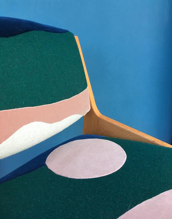 Chaise Full Moon by Sonia Laudet, Tapissier Designer