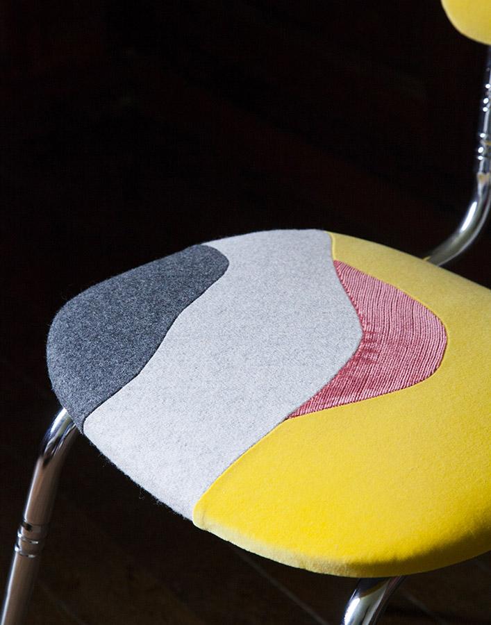 Chaise Sables mouvants by Sonia Laudet, Tapissier Designer