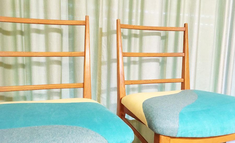 Chaises sur-mesure par Sonia Laudet, artisan français, tapissier designer à Bayonne
