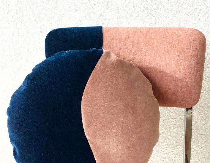 Chaise et coussin Bipolaire - Sonia Laudet, artiste textile mobilier à Bayonne, France