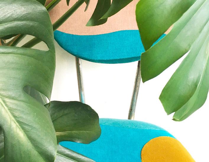 Chaise Equateur - Sonia Laudet, artiste textile mobilier à Bayonne, France