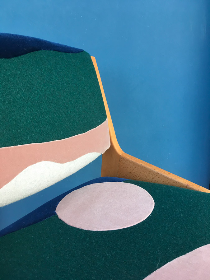 Chaise Full Moon - Sonia Laudet, artiste textile mobilier à Bayonne, France