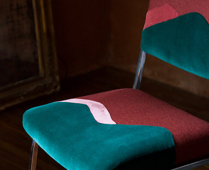 Chaise Twin Peaks, collection Landscapes par Sonia Laudet designer