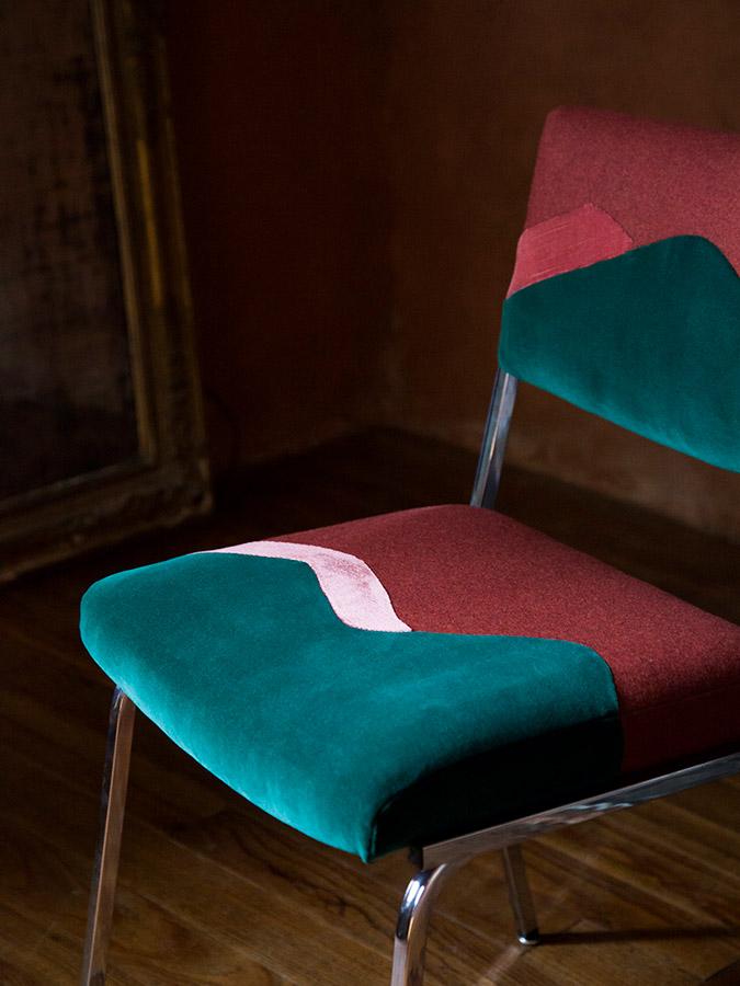 Chaise Twin Peaks, collection Landscapes par Sonia Laudet designer