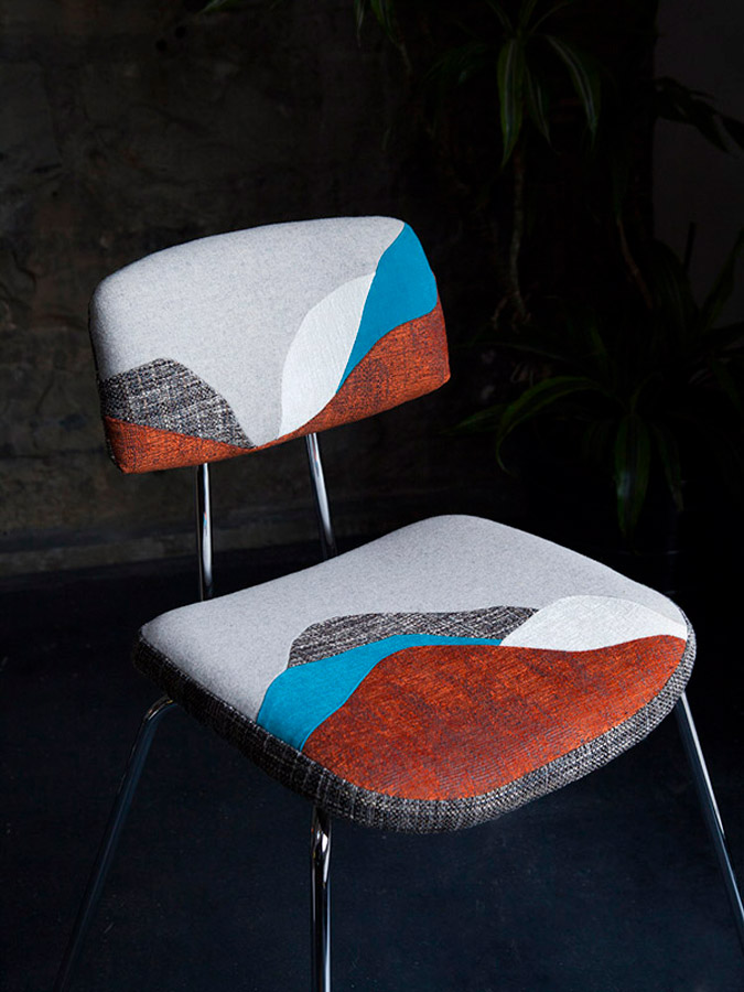 Chute Libre seats by Sonia Laudet, Tapissier Designer, Bayonne, France