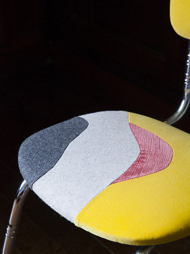 Chaise Sables mouvants - Sonia Laudet, artiste textile mobilier à Bayonne, France