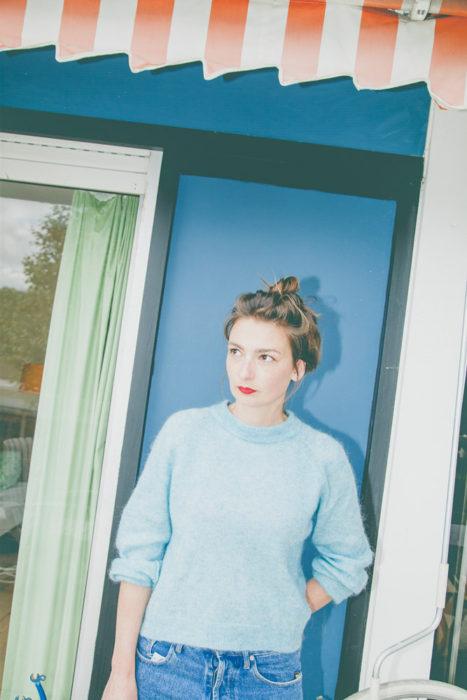 Sonia Laudet, tapissier designer, portrait photo par Emmy Martens