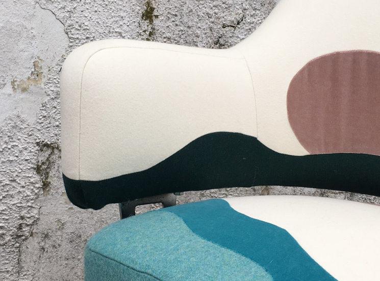 Fauteuil réalisé sur-mesure - Sonia Laudet, Artiste textile mobilier à Bayonne, France