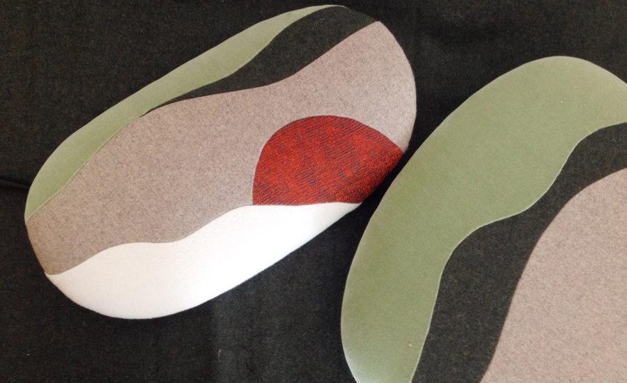 Landscape by Sonia Laudet, Tapissier Designer, 7 chaises sur mesure