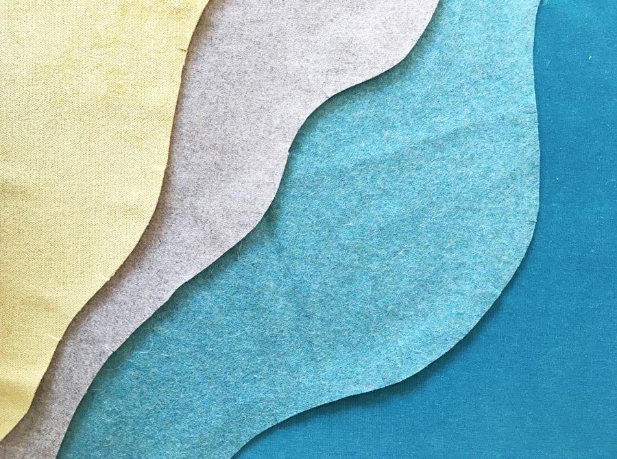 Matière laine, patchwork - Sonia Laudet, Artiste textile mobilier à Bayonne, France