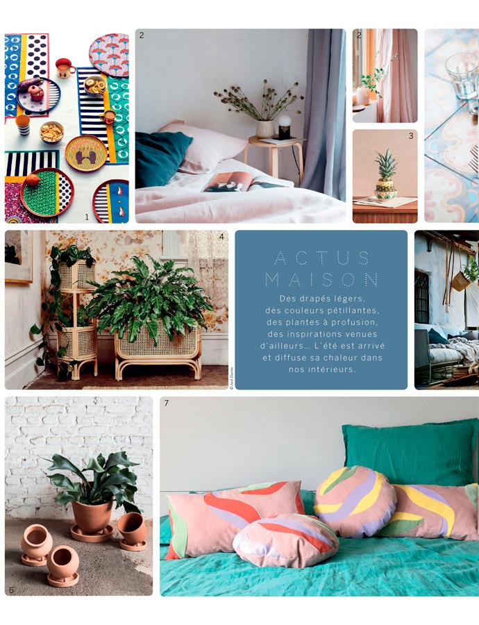 Parution Sonia Laudet - Calme magazine - été 2018 - Sonia Laudet, Artiste textile mobilier à Bayonne, France