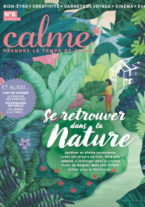 Calme magazine, été 2018 - Sonia Laudet, Artiste textile mobilier à Bayonne, France