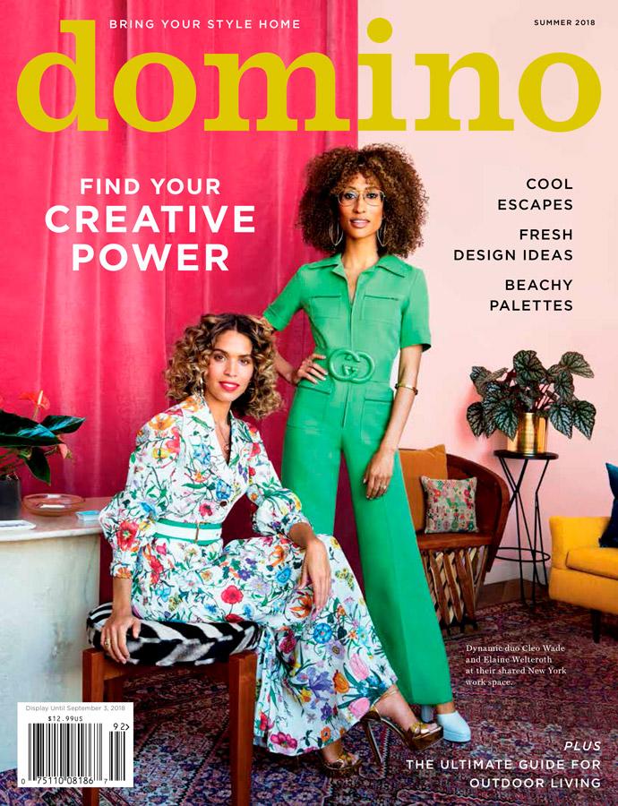 Parution dans le magazine américain Domino pour l'édition été 2018