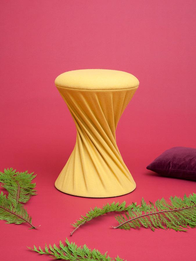 Design velvet stool sonia laudet