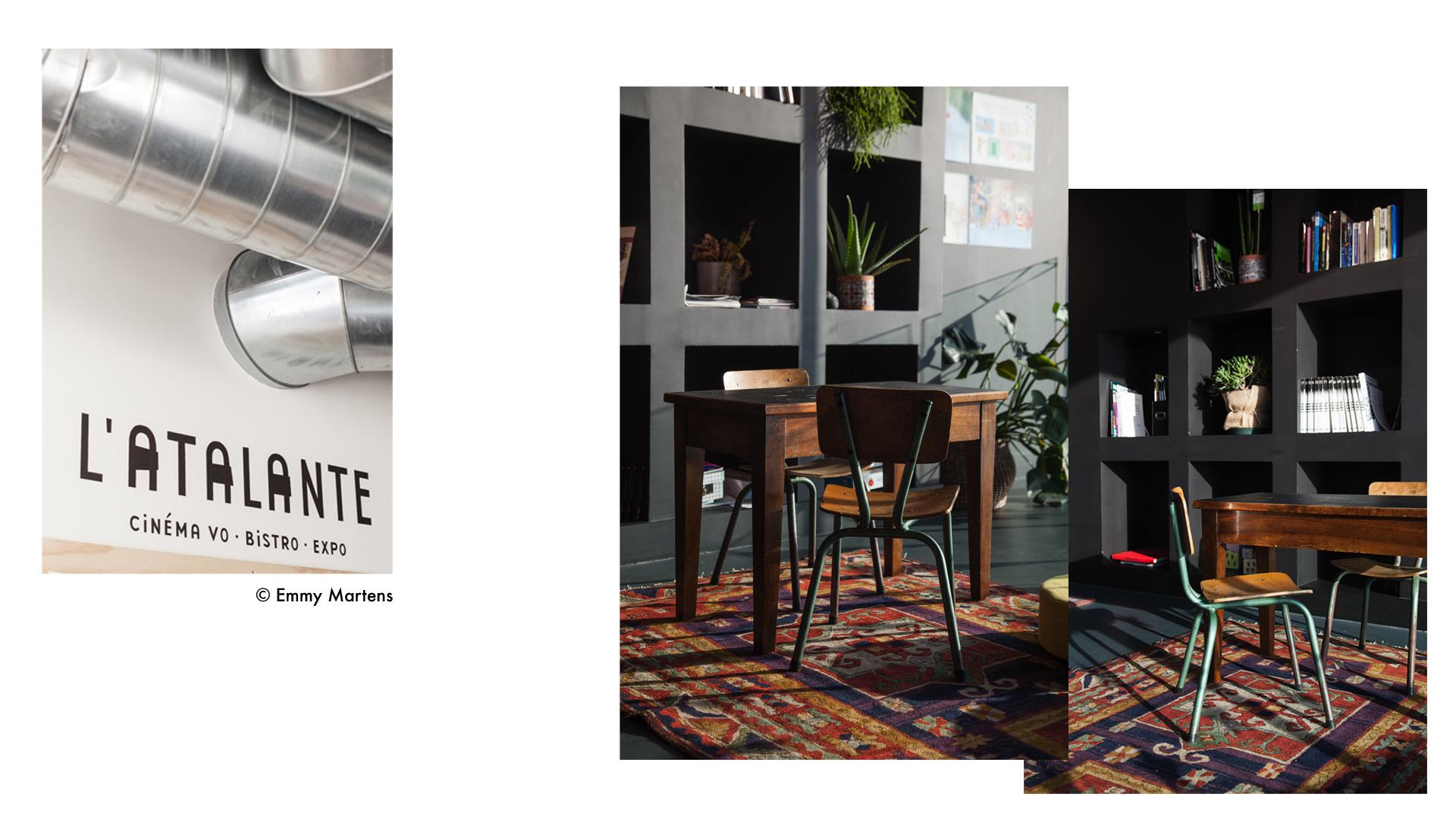 Décoration cinéma L'Atalante Bayonne par Sonia Laudet