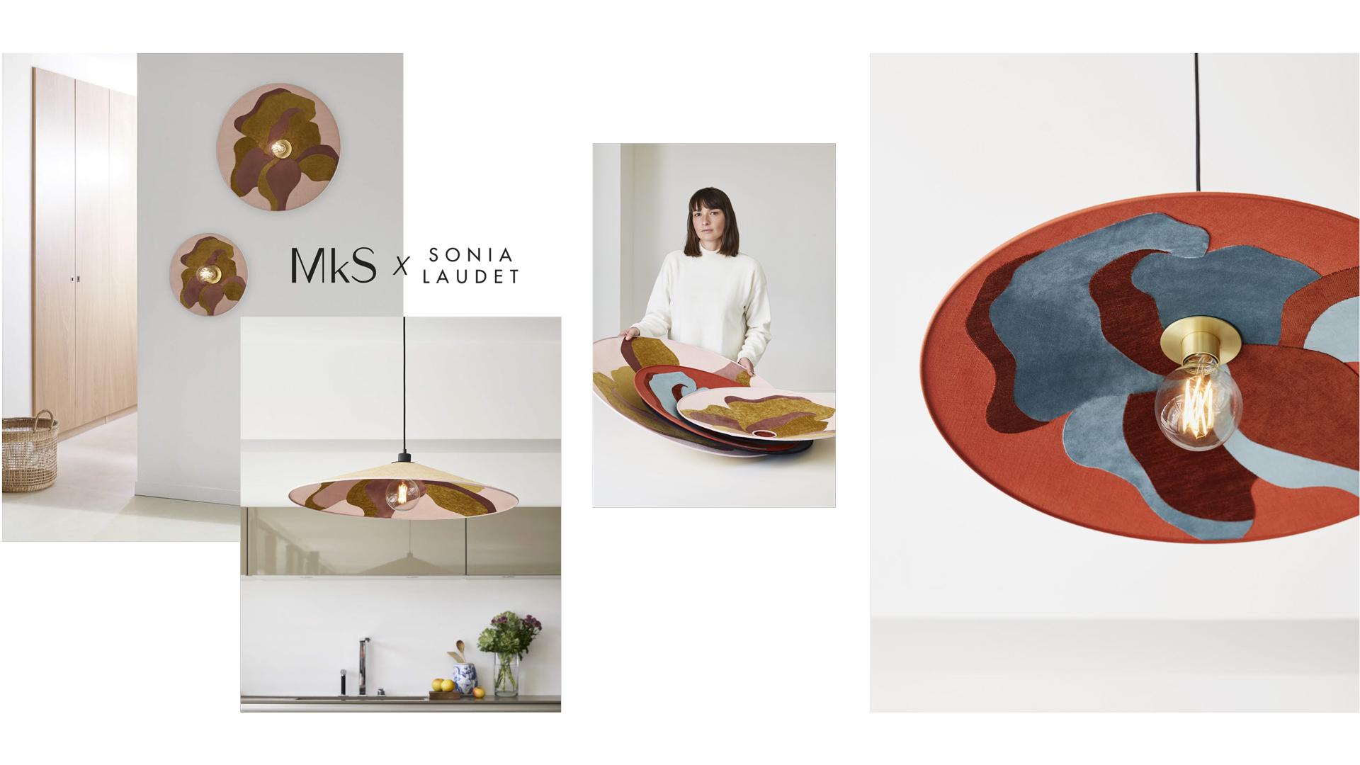 Sonia Laudet MKS luminaires textile design