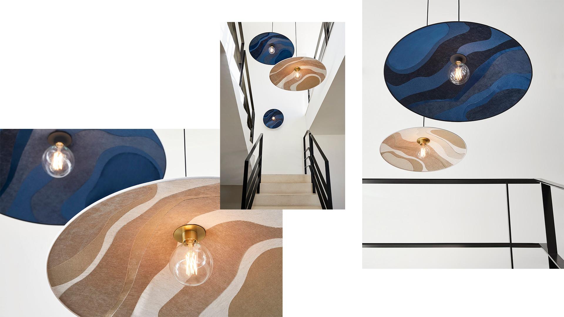 MkS x Sonia Laudet design luminaire textile