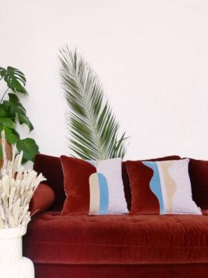 Coussins Eustache et Bianca Sonia Laudet décoration