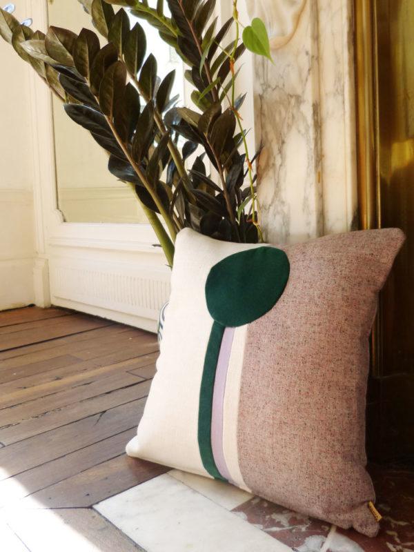 coussin Paolo vert Sonia Laudet décoration