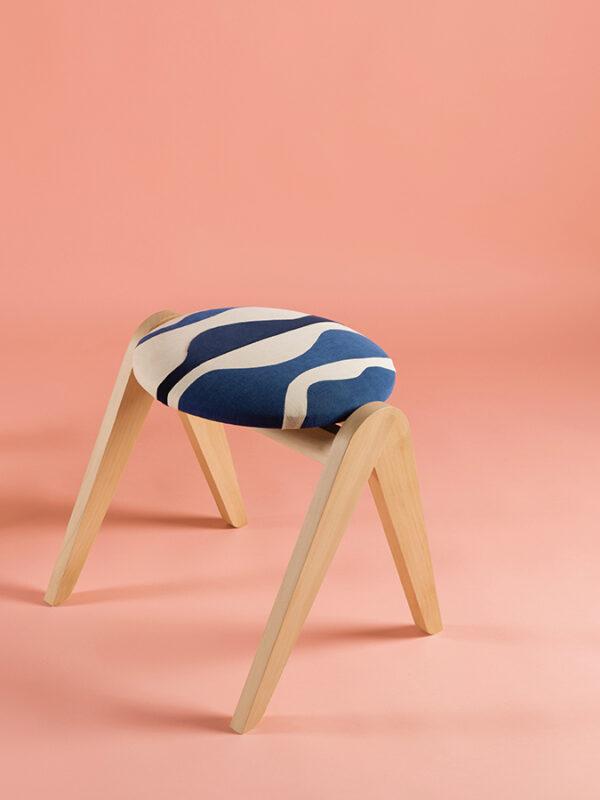 stool sonia laudet unique patchwork textile design