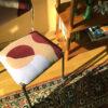 pink velvet textile design chair chrome sonia laudet