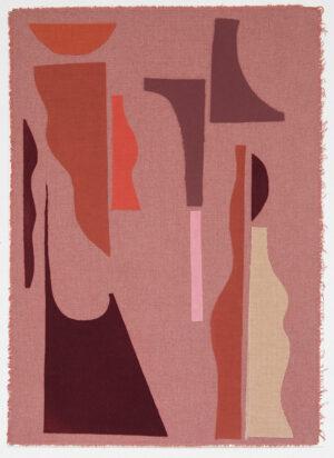 art collage textile sonia laudet