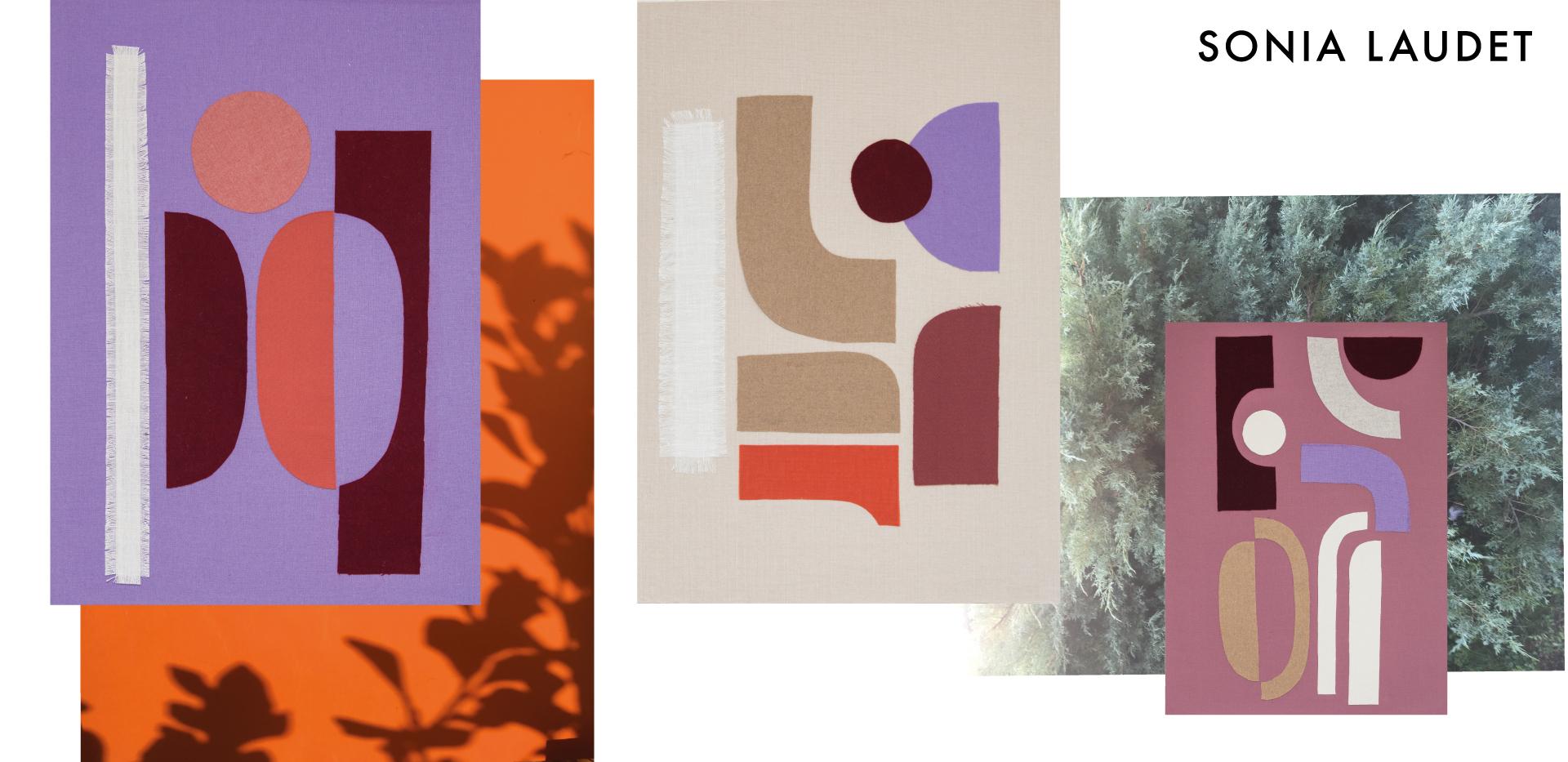 design textile collage furniture