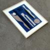 collage textile art night blue sonia laudet