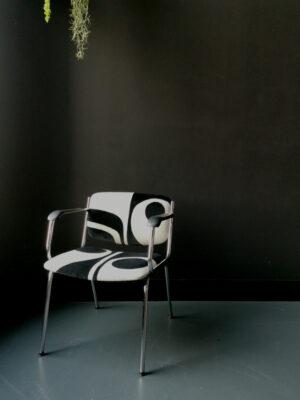 chair black white sonia laudet