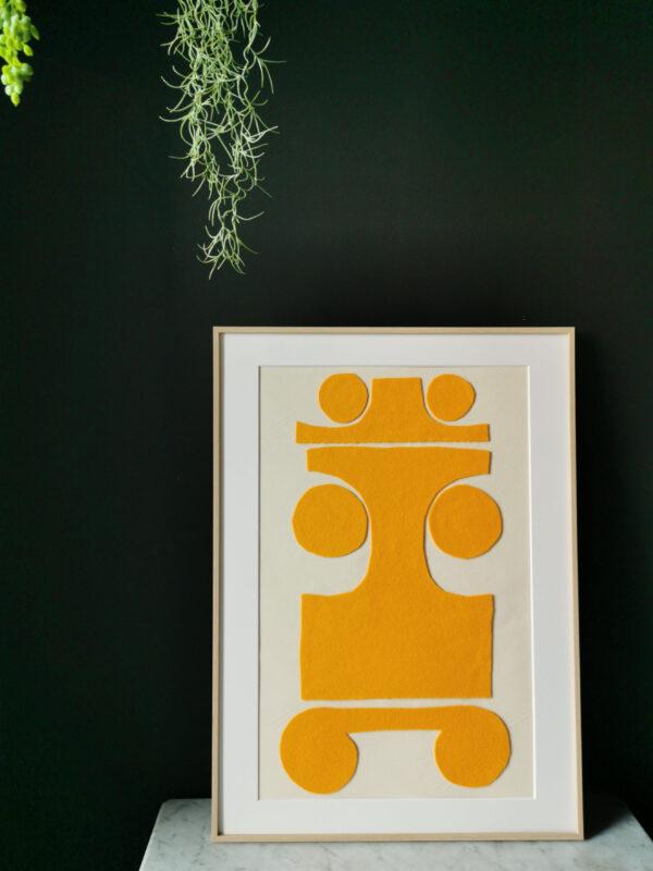 collage art wool yellow sonia laudet