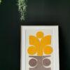 collage textile art sonia laudet pink yellow