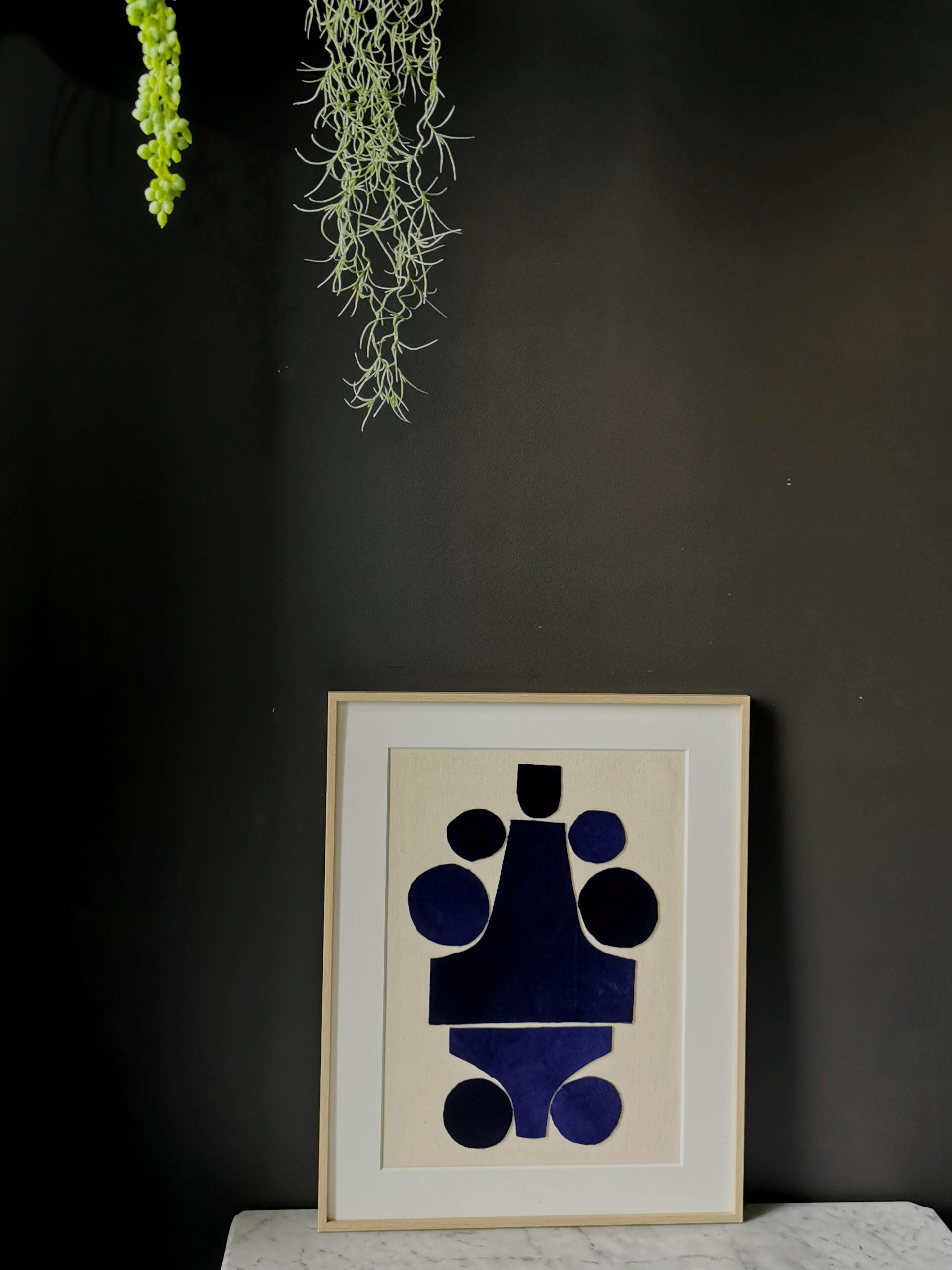 art collage blue velvet sonia laudet