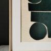 collage textile art green velvet sonia laudet