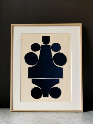 collage blue velvet sonia laudet art