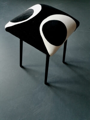 stool black white sonia laudet