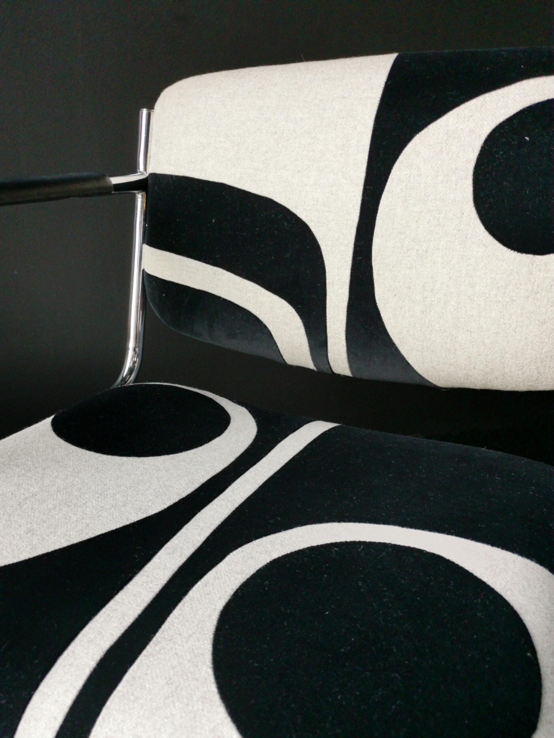 chair black white velvet sonia laudet art