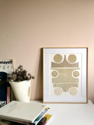 collage art textile sonia laudet ecru