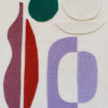 collage art textile sonia laudet pink lilas ecru