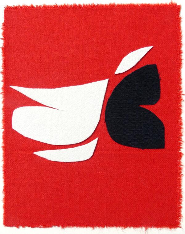 bird art collage red sonia laudet
