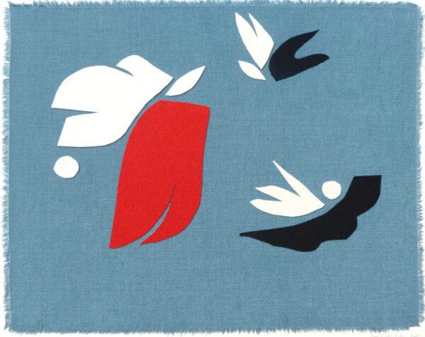 art collage blue bird sonia laudet